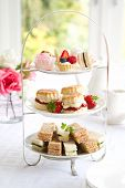 picture of cake stand  - Afternoon tea - JPG