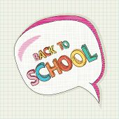 picture of bubble sheet  - Colorful back to school text social media speech bubble education elements grid sheet background cartoon illustration - JPG