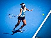 MELBOURNE - JANUARY 23: Li Na of China in her in her fourth round win over Victoria Azarenka of Bela