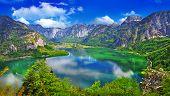 incrível lagos alpinos, Hallstatt, Áustria