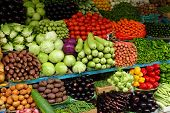 Fresh vegetables at market in Dubai, United Arab Emirates