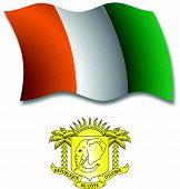 Cote D'ivoire Textured Wavy Flag Vector