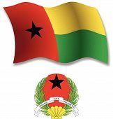 Guinea Bissau Textured Wavy Flag Vector