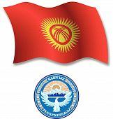 Kyrgyzstan Textured Wavy Flag Vector