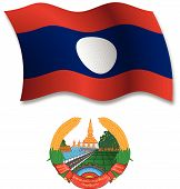 Laos Textured Wavy Flag Vector