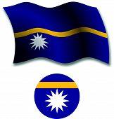 Nauru Textured Wavy Flag Vector
