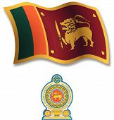 Sri Lanka Textured Wavy Flag Vector