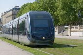 BORDEAUX, FRANCE - JUNE 27: Modern tram in the center of Bordeaux, France on June 27, 2013. The grou