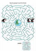 stock photo of riddles  - Maze game or activity page for kids - JPG