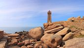 foto of por  - Pors Kamor lighthouse Ploumanac - JPG