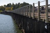 picture of trestle bridge  - The Galloping Goose Trail is a 55 kilometer multi use trail between Sidney and Sooke on southern Vancouver Island - JPG