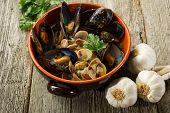 soup with mussel and clam