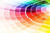 Primer plano de guía de color