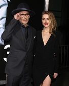LOS ANGELES - FEB 12:  Johnny Depp, Amber Heard at the