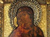 Russian Religious Icon, Close-up
