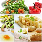 a collage with different dishes ot the mediterranean diet