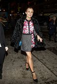 NEW YORK-FEB 6: Actress Diane Kruger arrives at a private shopping event in celebration of Peter Pil