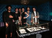 NEW YORK-FEB 10: Models wearing Cantamessa jewelry at the Cantamessa Men Launch Party at Tao Downtow