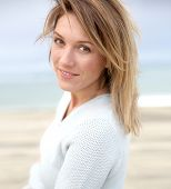stock photo of 35 to 40 year olds  - Portrait of beautiful 40 - JPG