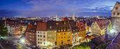 Nuremberg, Germany old city panorama.
