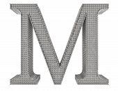 Chain Link Steel Alphabet - M