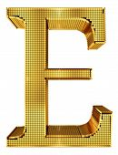Rich Golden Cube Alphabet - E