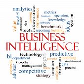picture of benchmarking  - Business Intelligence Word Cloud Concept with great terms such as predictive modeling analytics and more - JPG