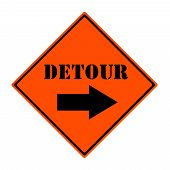 Detour This Way Sign