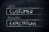 User Customer, Password Expectations