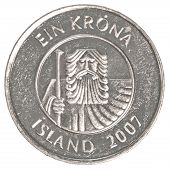 One Icelandic Krona Coin