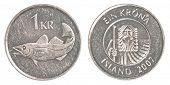 1 Icelandic Krona Coin