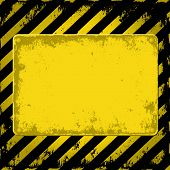 picture of barricade  - yellow and black grunge background  - JPG