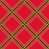 Checkered Diagonal Tartan Fabric Seamless Pattern