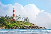 Lighthouse On The Rocks