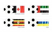 Football With Udmurtia, United Arab Emirates, Uganda And Ukraine Flag