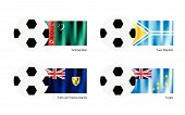 Football With Turkmenistan, Tuva, Turks And Caicos Islands And Tuvalu