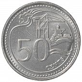 50 Singaporean Cents Coin