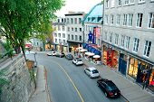 QUEBEC CITY, CANADA - SEP 10: Old street with traffic on September 10, 2012 in Quebec City, Canada.