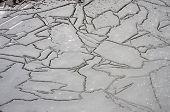 Irregular pattern of ice structure on the pond . Near Kiev,Ukraine