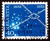 Postage Stamp Switzerland 1952 Symbolical Of The Television
