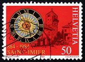 Postage Stamp Switzerland 1984 View Of Saint Imier