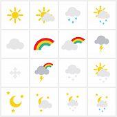 foto of meteoric rain  - Wheather icons  - JPG