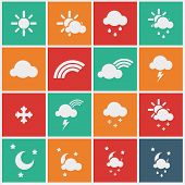 picture of meteoric rain  - Wheather icons  - JPG