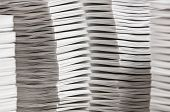 pic of collate  - Stacks of paper that have been collated - JPG