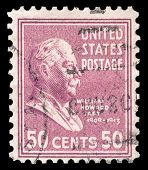 USA-CIRCA 1938: A postage stamp shows image portrait of William Howard Taft the 27th President of the United States of America, circa 1938.
