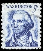 USA-CIRCA 1966: A postage stamp shows image portrait of George Washington the 1st President of the U