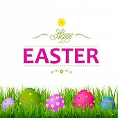 Colorful Easter Card, With Gradient Mesh, Vector Illustration