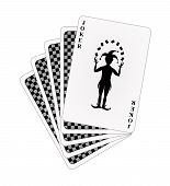 Black back side of playing cards