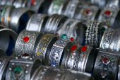 Handmade Silver Bracelets From The Market In Morocco