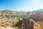 View of the Arab quarter in Granada